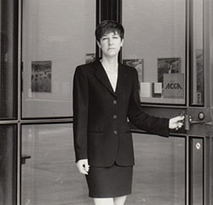 Brenda May outside of Access Contemporary Art Gallery in the mid-1990s image
