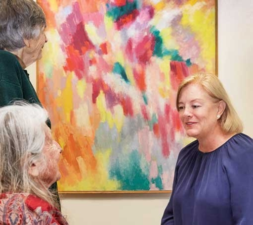 Looking at paintings brings pleasure for people living with dementia. image