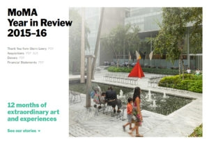 MoMA Releases Annual Report image