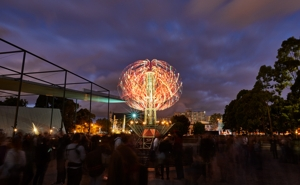Kinetic sculptures by Alex Sanson featured at White Night Melbourne image