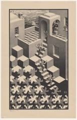 M.  C.  EscherDutch  1898–1972Cycle  May  1938lithograph47.5  x  27.9cm  (image)55.4  x  35.3  cm  (sheet)  Escher  Collection,  Gemeentemuseum  Den  Haag,  The  Hague,  the  Netherlands image