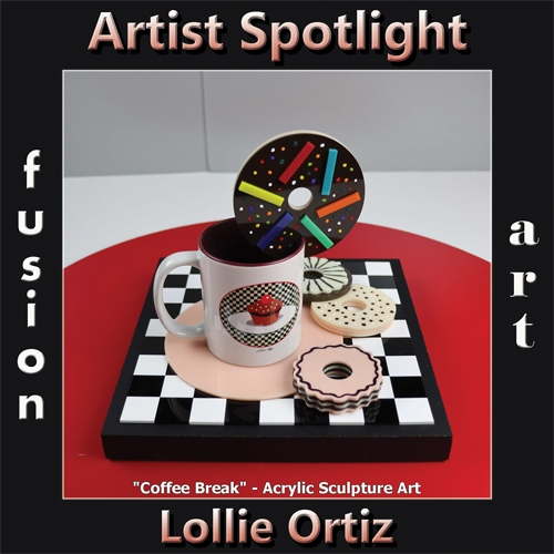 Lollie Ortiz is Fusion Art's 3-Dimensional Artist Spotlight Winner for January 2020 image