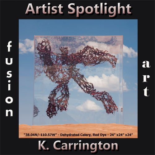 K. Carrington is Fusion Art's 3-Dimensional Artist Spotlight Winner for February 2020 image