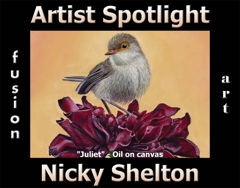 Nicky Shelton Wins Fusion Art's Artist Spotlight Solo Art Exhibition for May 2020 image