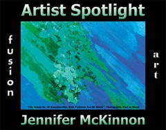 Jennifer McKinnon Wins Fusion Art's Artist Spotlight  Solo Art Exhibition for July 2020 image
