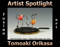 Tomoaki Orikasa is Fusion Art's 3-Dimensional Artist Spotlight Winner for August 2020 image