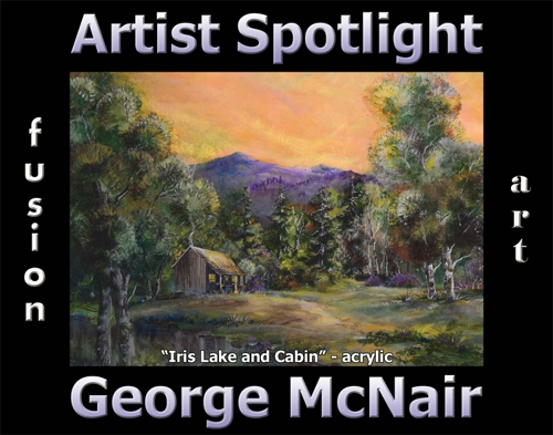 George McNair Wins Fusion Art's Artist Spotlight Solo Art Exhibition for February 2021 image