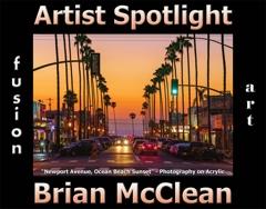 Brian McClean Wins Fusion Art's Artist Spotlight  Solo Art Exhibition for June 2021 image