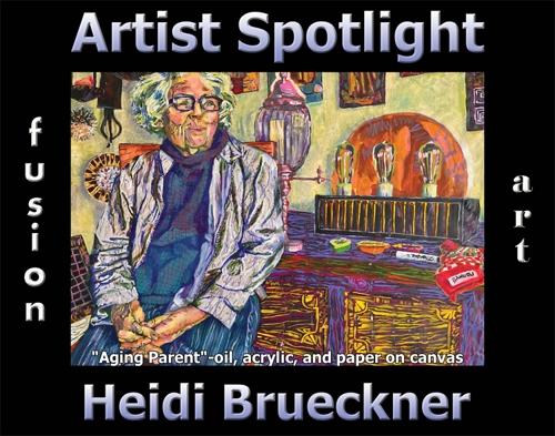 Heidi Brueckner Wins Fusion Art's Artist Spotlight Solo Art Exhibition for July 2021 image