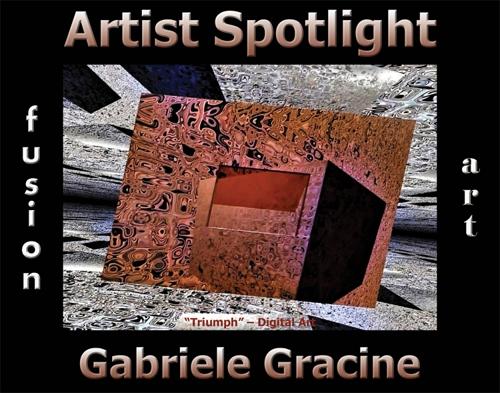 Gabriele Gracine Wins Fusion Art's Artist Spotlight  Solo Art Exhibition for September 2021 image