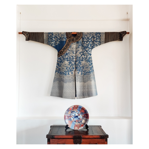 Traditional clothing art installation image
